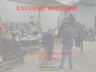 Excursie Hoefsmid