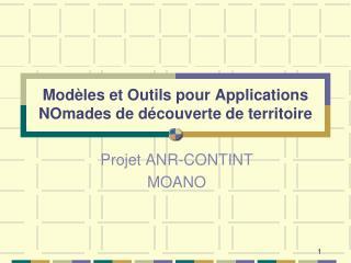 Modèles et Outils pour Applications NOmades de découverte de territoire