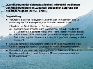 Quantifizierung der tiefenspezifischen, mikrobiell mediierten