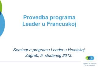 Provedba programa Leader u Francuskoj