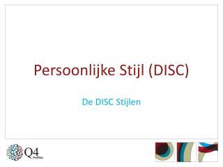 Persoonlijke Stijl (DISC)