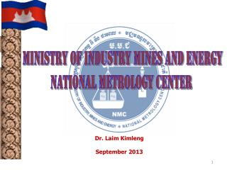 Ministry of industry mines and energy NATIONAL METROLOGY CENTER