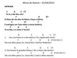 Missa de Ramos – 01/04/2012