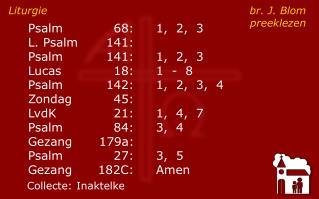 Liturgie br. J. Blompreeklezen