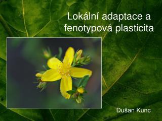 Lokální adaptace a fenotypová plasticita