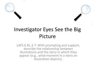Investigator  E yes See the Big Picture