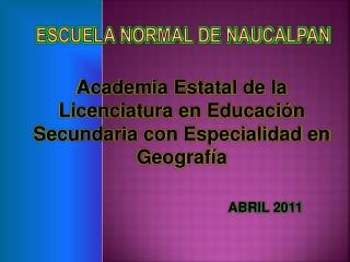 Escuela Normal de Naucalpan