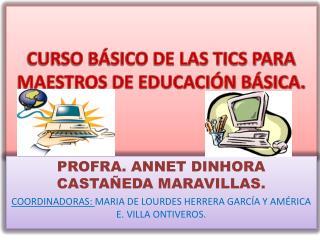 CURSO BÁSICO DE LAS TICS PARA MAESTROS DE EDUCACIÓN BÁSICA.