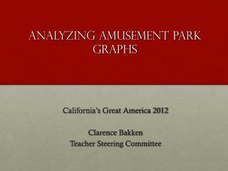 Analyzing Amusement Park Graphs