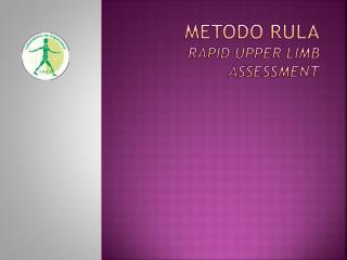 Metodo  rula Rapid  Upper limb assessment