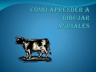 COMO APRENDER A DIBUJAR ANIMALES