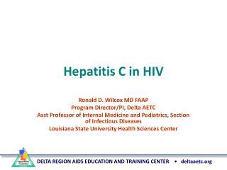 Hepatitis C in HIV
