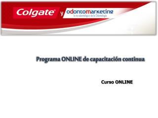 Programa ONLINE de capacitación continua