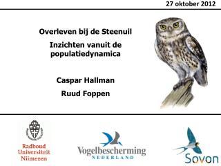 Overleven bij de Steenuil Inzichten vanuit de populatiedynamica Caspar Hallman Ruud Foppen