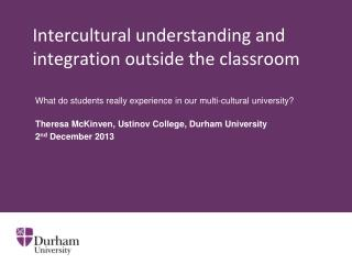 Intercultural understanding and integration outside the classroom
