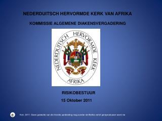 NEDERDUITSCH HERVORMDE KERK VAN AFRIKA