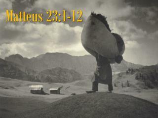 Matteus 23:1-12