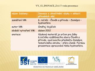 VY_52_INOVACE_Z.6.17-voda-prezentace