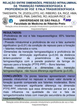 RELAÇÃO ENTRE DIMENSÕES, PRESSÃO INTRALUMINAL  DA  TRANSIÇÃO FARINGOESOFÁGICA  E