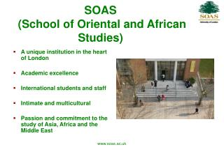 SOAS  School of Oriental and African Studies