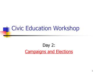 Civic Education Workshop