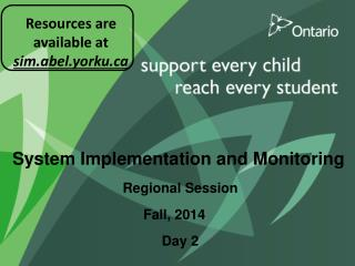System Implementation and Monitoring Regional Session Day 2
