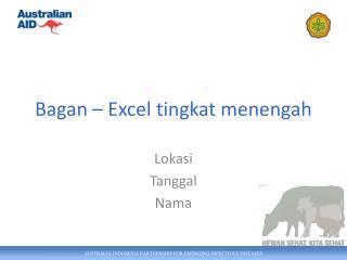 Bagan – Excel tingkat menengah