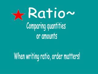 Ratio~