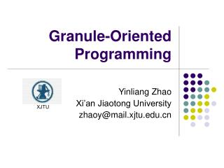 Granule-Oriented Programming