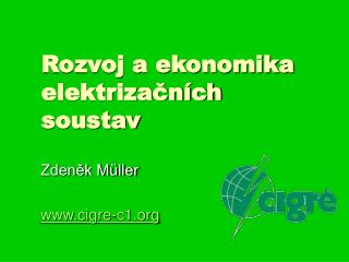Rozvoj a ekonomika elektrizačních  soustav