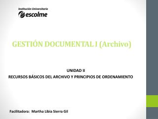 GESTI�N DOCUMENTAL I (Archivo)