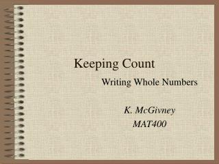 Keeping Count