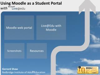 Moodle web portal