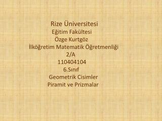 Rize Üniversitesi