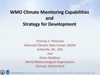 WMO Climate Monitoring Capabilities and Strategy for Development
