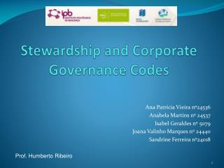 Stewardship and Corporate Governance Codes