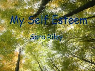 My Self Esteem