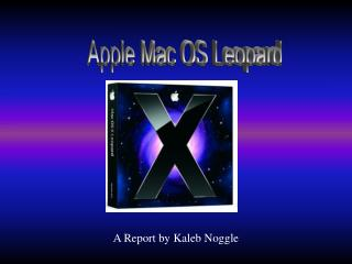Apple Mac OS Leopard