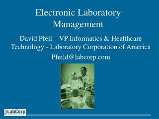 Electronic Laboratory Management
