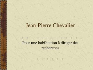 Jean-Pierre Chevalier