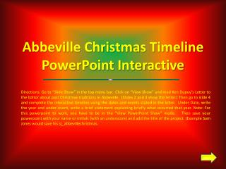 Abbeville Christmas Timeline PowerPoint Interactive