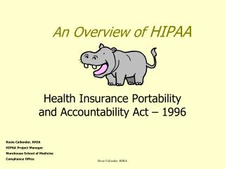 An Overview of  HIPAA