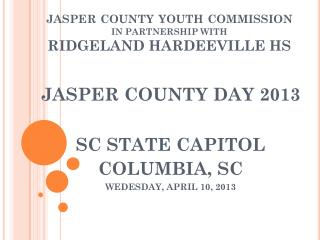 jasper county youth commission IN PARTNERSHIP WITH  RIDGELAND HARDEEVILLE HS