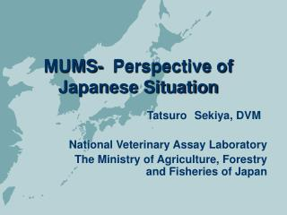 MUMS-  Perspective of Japanese Situation