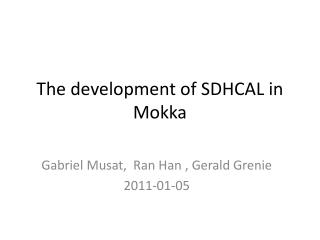 The development of SDHCAL in  Mokka