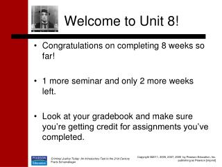 Welcome to Unit 8!