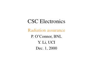 CSC Electronics