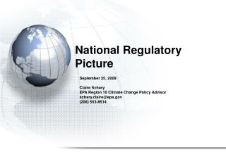 National Regulatory Picture