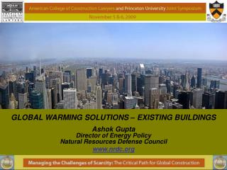 GLOBAL WARMING SOLUTIONS – EXISTING BUILDINGS