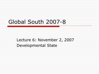 Global South 2007-8